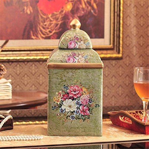 Conservazione Conservare vaso in stile europeo palazzo quadrato lattine stile