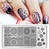 New 1pc Mandala Nail Art Stamp Plate Man...