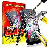 """*** PACK INCASSABLE *** FILM PROTECTION Ecran en VERRE Trempé ALCATEL PIXI 4 (6.0) filtre protecteur d'écran 6 POUCES INRAYABLE & INVISIBLE vitre + STYLET NOIR pour Smartphone ONE TOUCH pixi4 6"""" 4G"""