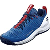 YONEX Hommes Power Cushion Eclipsion 3 All Court Chaussures De Tennis Chaussures Toutes Surfaces Bleu - Blanc
