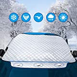 Picture Of Car Windscreen Frost Protector - Exqline Universal Car Front Window Snow Cover, Car Windshield Ice Cover, Car Sunshade Visor Protector, Keep Your Vehicle Damage Free,Fits Windshields of Standard Auto