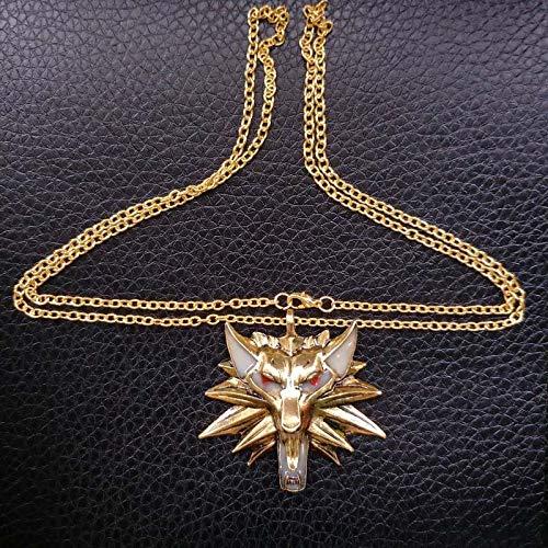 Collar luminoso collar del dragón de la vendimia para el partido-de oro