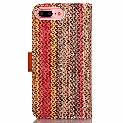 Coque Etui pour iPhone 7 Plus,iPhone 7 Plus PU Leather Case Wallet Cover Flip Coque,iPhone 7 Plus Portefeuille Cuir Coque Housse,EMAXELERS iPhone 7 Plus Coque Cuir,iPhone 7 Plus Coque Flip,iPhone 7 Pl G G Floral Wood 2