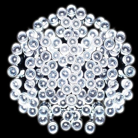PMS® 500 LEDs 50M Luce Della Stringa Solare Bianco Impermeabile Decorazioni Natalizie, Striscia LED ad (Luce Solare Del Giardino Pacchetto)
