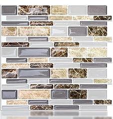 Idea Regalo - Vamos Tile Peel and Stick tile Backsplash, 3D adesivo da parete piastrelle per cucina & bathroom-10.62