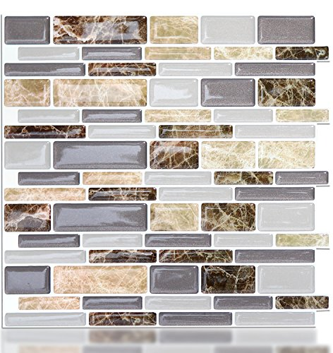 Vamos Tile Peel And Stick Tile Backsplash, 3D Adesivo Da Parete Piastrelle  Per Cucina U0026
