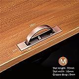 wangjian& Rotierenden versteckten Griff vertieft Tatami Griffe Drehen Boden Schrank Verdeckt Schiebetür Griffe Möbel Beschläge, Rot Bronze - M