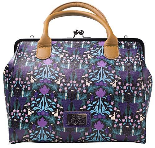 Bioworld Disney Mary Poppins All-Over Print Shopper Bag Koffer 34 centimeters 25 Violett ()