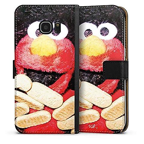 Samsung Galaxy S7 Edge Flip Tasche Schutz Hülle Walletcase Bookstyle Oliver Rath Elmo Sesamstraße