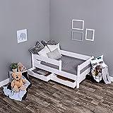 KAGU Kinderbett Jugendbett Juniorbett Bett 140 x 70 cm oder 160 x 80 cm  mit Bettkasten und Matratze.