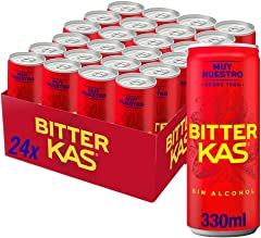 Bitter KAS Bitter Kas 330Ml - Refresco Refresco Amargo Sin Alcohol - 24 Latas (24 x 330.00 ml)