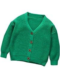 Abrigo de punto para bebé ,Yannerr niños niñas caliente botón suéter cardigan tops chaqueta ropa