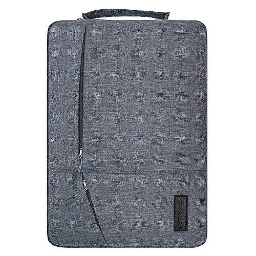 Filz Laptop Hülle Sleeve Ultrabook Tasche - Yarrashop Notebook Einfache Stil Wasserdichte Nylon Stoff Notebook Sleeve für Microsoft Surface Pro 2017, 4/3/2 Macbook Air 11,6 Zoll Gray