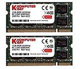 Komputerbay 2GB (2x1GB) DDR SODIMM (200 pin) 400Mhz PC3200 DDR400 MEMORIA PORTATILE