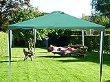 Tonnelle Pavilion Tente de réception   300 x 300 cm / 3 x 3m   carré   Vert   Sorara   10 kg (UV 50 +)   cas pour camping Jardin Abri Tonnelle