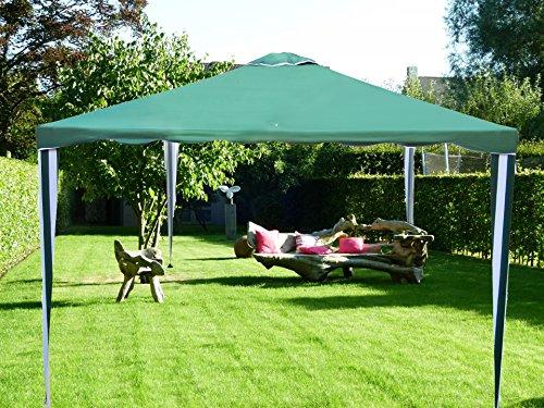 Tonnelle Pavilion Tente de réception | 300 x 300 cm / 3 x 3m | carré | Vert | Sorara | 10 kg (UV 50 +) | cas pour camping Jardin Abri