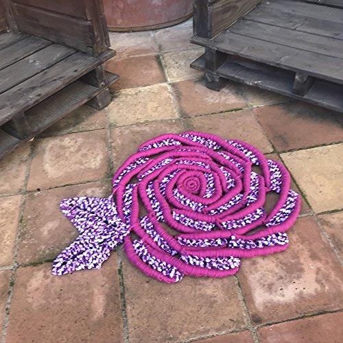 alfombra de macramé