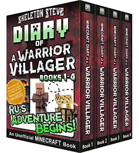 Diary of a Minecraft Warrior Villager - Box Set 1 - Ru's Adventure Begins (Books 1-4): Unofficial Minecraft Books for Kids, Teens, & Nerds - Adventure Fan Fiction Diary Series (English Edition) por Skeleton Steve