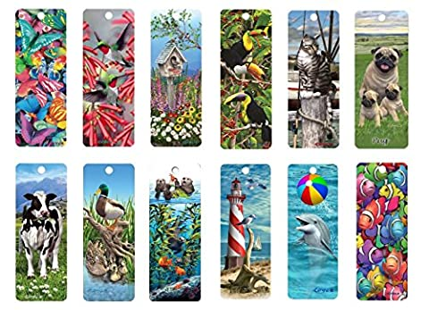 3D Bookmark Multipack (Pack of 12) - Set 1