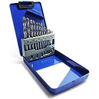 S&R Metallbohrer Set 1,5-6,5mm 118°, 13 Stk, GM-Serie, DIN 338, geschliffen, HSS-Stahl, Metallbox, Spiralbohrer in Profi…