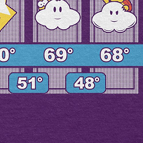 TEXLAB - Mushroom Kingdom Weather Forecast - Herren T-Shirt Violett