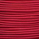 1m Gummikordel - Hutgummi - Rundgummi, hochwertig, extra-stark in 3mm, rot