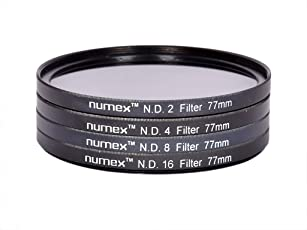 SHOPEE 77MM ND Lens Filter Kit for Nikon, Sony and Tamron (Black)