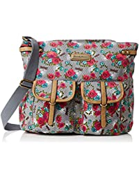 SwankySwans  Hayley Dragonfly Floral Messenger, Sacoche femme