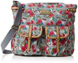 SWANKYSWANS Womens Hayley Dragonfly Floral Messenger Satchel Grey