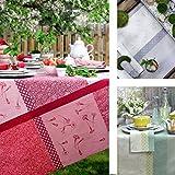 sander Tischdecke FLEUR DU JARDIN Tischdecke Frühling Sommer Baumwolle Jacquard (150x150 cm, 15-hellgrün)