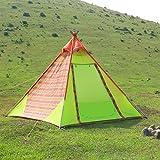 WolfWise 3-4 Personen Familienzelt, Professionelles Gruppenzelt Trekkingzelt, für Camping/ Wandern/ Outdoor, mit Tragetasche, Wasserdich