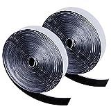 Zacro 6m Klettband Selbstklebend Extra Stark Klettverschluss Doppelseitiges Klebeband Flausch und Haken 20mm Breit für Alle Arten von Grafikrahmen Installation