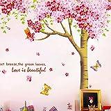 BB.er Wall Sticker romantischen Kirschbaum abnehmbare übergroßen Wohnzimmer Sofa Wand Dekorative Aufkleber