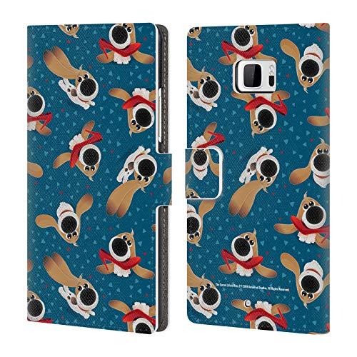 Ocean Leder Schuhe (Head Case Designs Offizielle The Secret Life of Pets 2 Kleiner Hund Schuhen Muster II Welpen Schule Leder Brieftaschen Huelle kompatibel mit HTC U Ultra/Ocean Note)