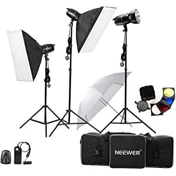 Neewer® 750W(250W x 3)Professional Photography Studio Flash Strobe Light Lighting Kit for Portrait Photography,Studio and Video Shoots( EG-250B)