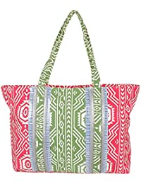 Multicolor Lovely Contemporary Print Handbag For Mother's Day