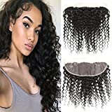 Dai Weier Bresilienne Hair Lace Frontal Closure 4x13 Deep Curly Wave Extensions Human Hair Remy Hair Natural Unprocessed Haare Extensions 16 Inch