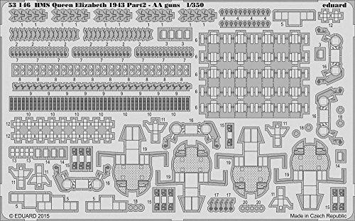 Eduard Photoetch 1:350 - HMS Queen Elizabeth 1943 - AA Guns (TRU05324)
