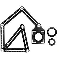 Shopexnow Tile Hole Maker Multi Angle Measuring, Angle Template Tool, Aweohtle Six-Sided Aluminum Alloy Metal Angle…