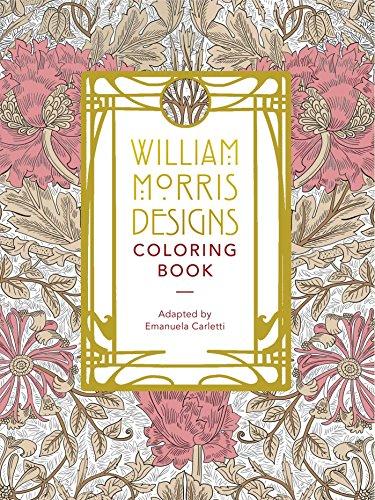 William Morris Designs Coloring Book Creative Victorian Wallpaper