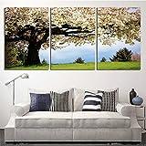 XrsArt 3 paneles abstracta moderna Impreso blanca del árbol Pintura Cuadro Cuadros Cavas arte decoración de la pared para sala de estar (sin marco) FCa14 sin marco de 36 pulgadas x 20 pulgadas