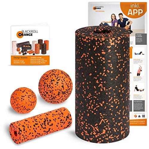 Blackroll Orange (Das Original) Starter Set mit der Faszienrolle Standard, alles für den erfolgreichen Einstieg ins Faszientraining, inkl. Übungsposter und Booklet
