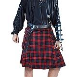 mit antiker L/öwen-Schnalle Herren Kilt-G/ürtel aus Leder Schwarz schottisches Highland