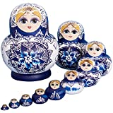 YAKELUS, professional brand of Matrioska, Russian Dolls Matryoshka 10 piece Russian Matryoshka of 10 Layers, handmade and by linden, is a toy and a gift