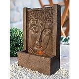 Heissner Garten/Terrassen Brunnen Polystone Buddha, Braun