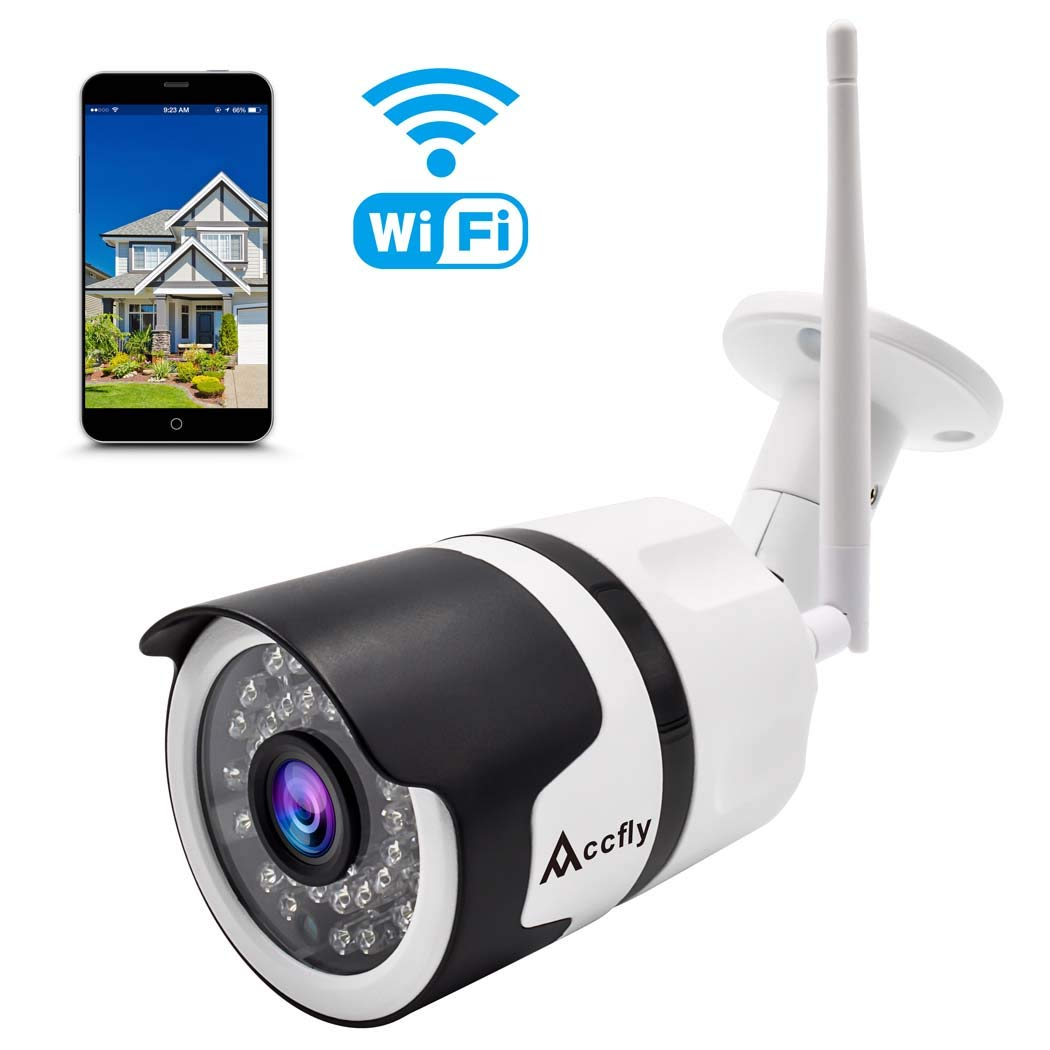 [Updated Version] 1080P Outdoor Security Camera Cloud Service WiFi Cam Wireless IP Waterproof IR Night Vision Home…