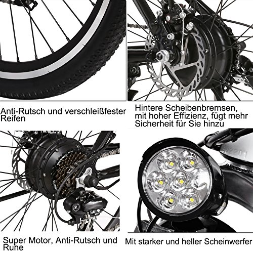 Ancheer Elektrofahrrad 26 Zoll Mountainbike - 7
