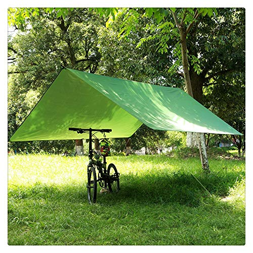 D-TANG Sonnenschutzzelt im Freien Multifunktions-Baldachin wasserdicht Sonnenschutz Strand Pergola Schatten Zelt Lichtmatte Matte Bodenmatte, grün