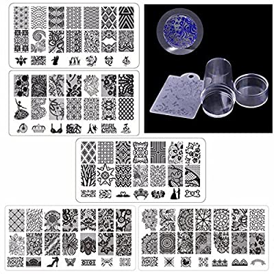 Biutee Nail Stamping Plates + 1 Stamper + 1 Scraper