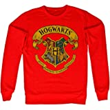 Harry Potter Officially Licensed Inked Hogwarts Crest Sweatshirt (Red)